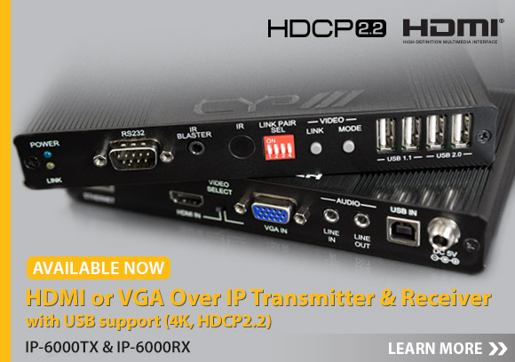 Click here for more information about our new HDMI and VGA over IP Extenders